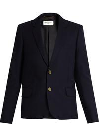 Saint Laurent Notch Lapel Wool Jacket