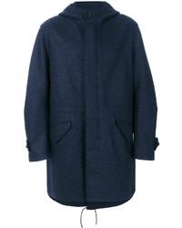 Navy Wool Parka