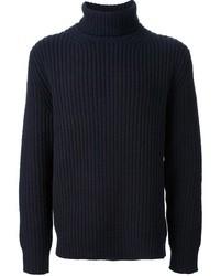 Navy Wool Turtleneck