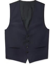 Hugo Boss Blue Wilson Slim Fit Super 120s Virgin Wool Waistcoat