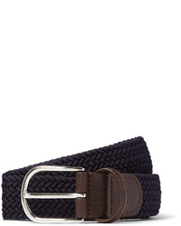 Andersons Andersons 35cm Midnight Blue Woven Waxed Cord Belt