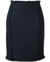 Gianluca Capannolo Woven Pencil Skirt