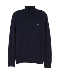 Navy Zip Neck Sweater