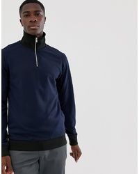 Selected Homme Half Zip Track Sweatshirt