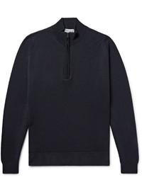 John Smedley Tapton Merino Wool Half Zip Sweater