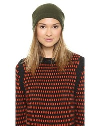 1717 olive purl knit slouch beanie medium 145631