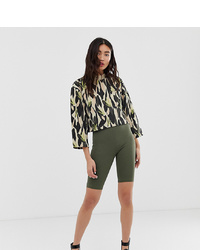 Olive Bike Shorts