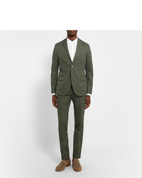 Officine Generale Green Slim Fit Cotton Suit Jacket | Where to buy ...