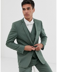 ASOS DESIGN Slim Suit Jacket In Sage Green