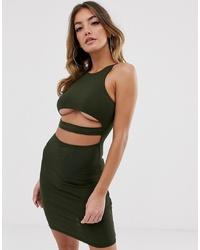 ASOS DESIGN Going Out Underboob Bodycon Mini Dress