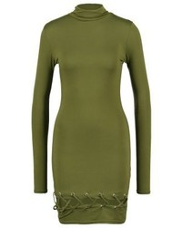 Missguided Jersey Dress Khaki