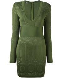 Balmain Knit Panel Mini Dress
