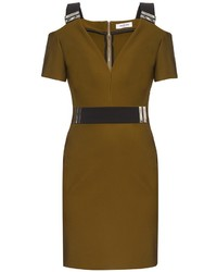Thierry Mugler Mugler V Neck Bi Colour Dress