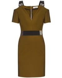 Thierry Mugler Mugler V Neck Bi Colour Dress