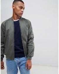 ASOS DESIGN Bomber Jacket In Khaki