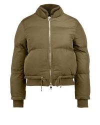 Topshop Carter Bomber Jacket Khaki