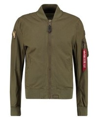 Ma1 slim fit bomber jacket olive medium 3831563