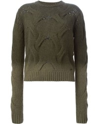 Cable knit degrad sweater medium 335776