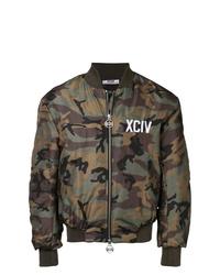 Gcds Camouflage Print Bomber Jacket