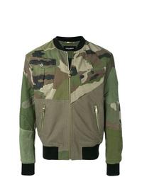 Dolce & Gabbana Camouflage Print Bomber Jacket