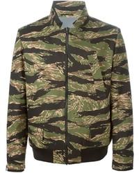 Golden Goose Deluxe Brand Camouflage Print Bomber Jacket