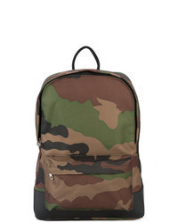 Olive Camouflage Canvas Backpack