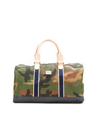 Olive Camouflage Canvas Duffle Bag