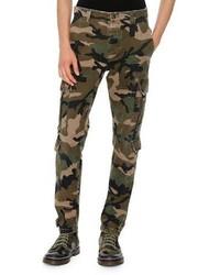 Valentino Camouflage Twill Cargo Pants Green