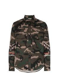 Valentino Camo Cotton Shirt Jacket
