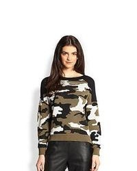 Olive Camouflage Crew-neck Sweater