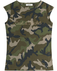 Olive Camouflage Crew-neck T-shirt