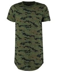 Boom Bap Bummer Print T Shirt Green