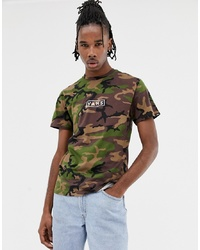 Vans Camo T Shirt With Back Print In Green Vn0a3hrec9h1