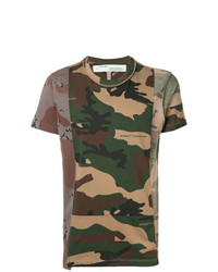 Off-White Camouflage Print T Shirt