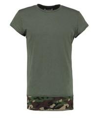 Jortoma loose fit print t shirt thyme medium 4163592