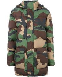 Moschino Padded Camouflage Jacket