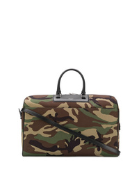 Olive Camouflage Leather Holdall