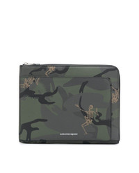 Alexander McQueen Skeleton Print Clutch Bag