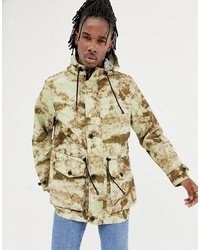 ASOS DESIGN Lightweight Parka Jacket In Camo Print