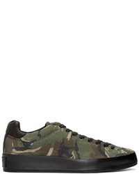 Olive Camouflage Low Top Sneakers