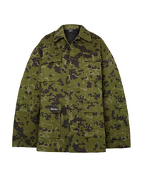 We11done Camouflage Print Cotton Jacket