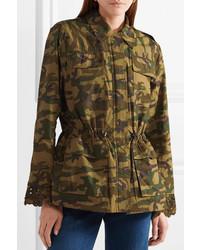 Sea Carina Broderie Anglaise And Printed Cotton Gabardine Jacket