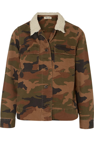 Madewell Northward Faux Med Camouflage Print Cotton Twill Jacket