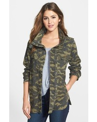 Petite Press Lightweight Stretch Cotton Military Jacket