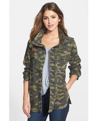 Petite Press Lightweight Stretch Cotton Military Jacket