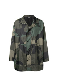 Valentino Camouflage Hooded Coat