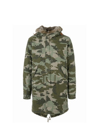 Mr & Mrs Italy Camouflage Mid Parka