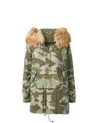Mr & Mrs Italy Camouflage Parka Coat