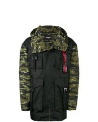 DSQUARED2 Camouflage Print Hooded Jacket