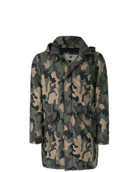 Kired Camouflage Print Military Coat